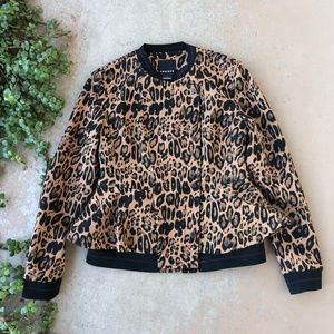 Trouve Leopard Animal Print Peplum Jacket